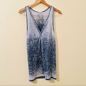 Project Social T | Distressed Henley Tank Top